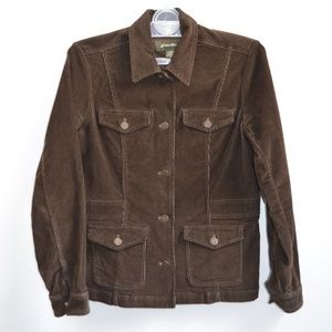 Eddie Bauer Stretch Corduroy Brown Jacket Medium